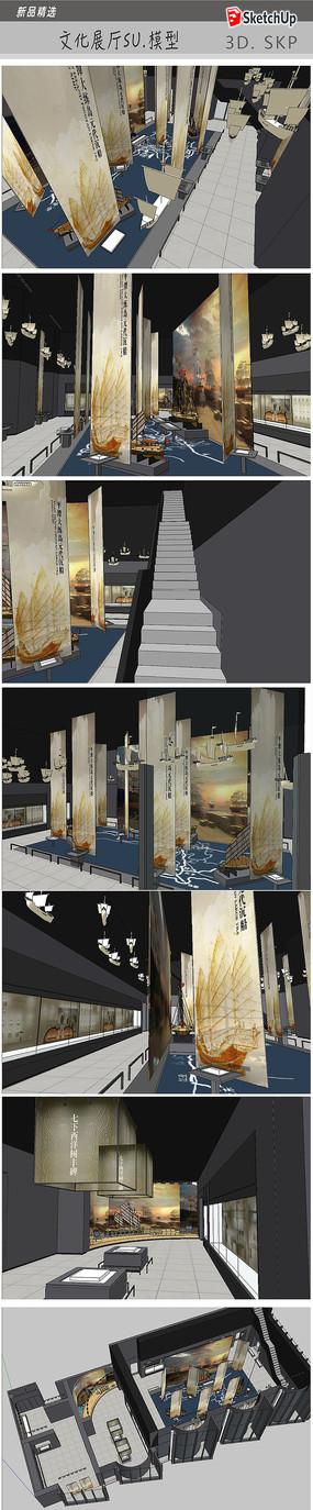 文化教育展厅模型