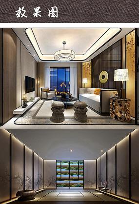 中式楼梯中庭设计实景设计jpg图片