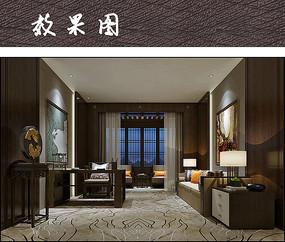 小空间中式精品客厅装修效果图