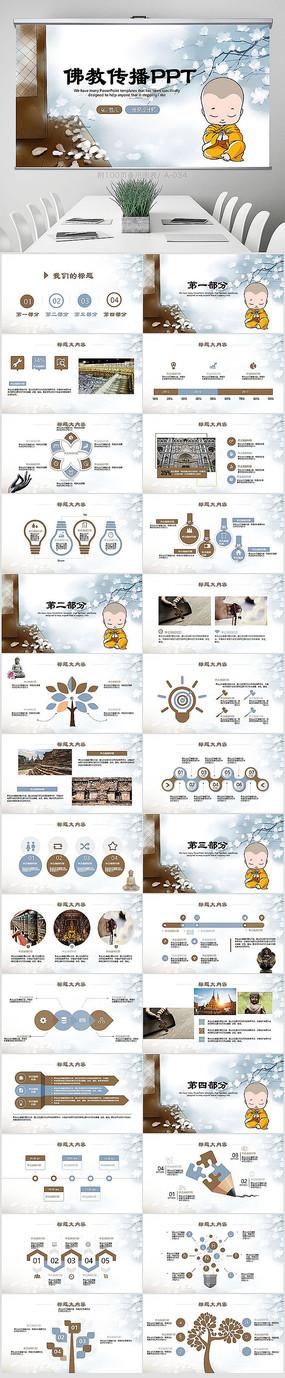 中国佛教文化宣传ppt模板