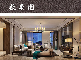 中式家具装饰别致客厅效果图