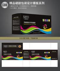 彩色线条背景硒鼓包装盒