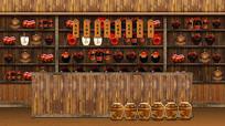 古代木质酒庄酒馆 PSD