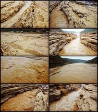 航拍黄河壶口瀑布视频素材