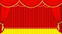 红色幕布拉幕舞台表演 PSD
