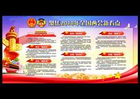 两会2018中国六新宣传展板