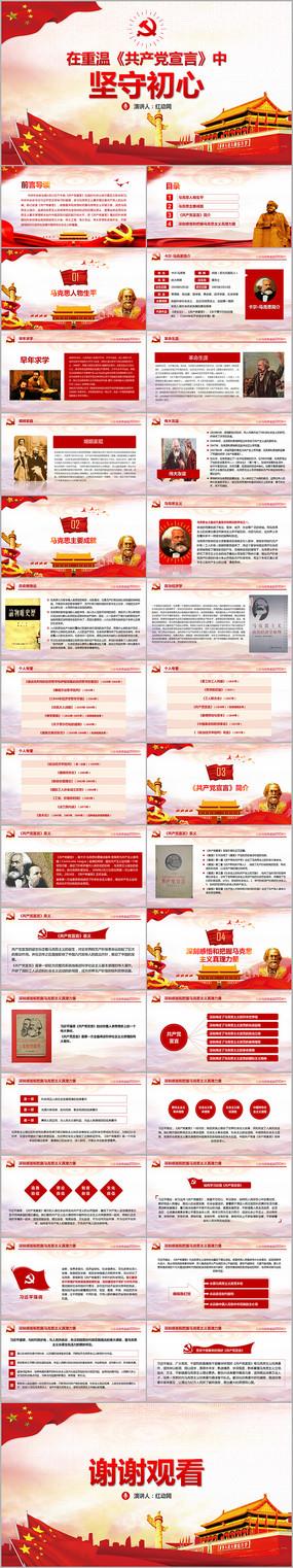 马克思诞辰重温共产党宣言PPT