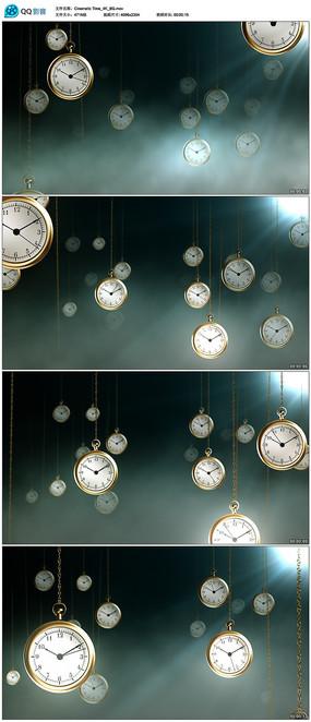 时钟背景视频素材