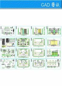 学校综合楼全套建筑图 dwg