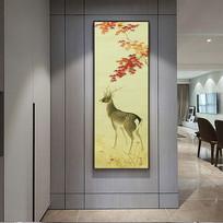 中国画麋鹿装饰画
