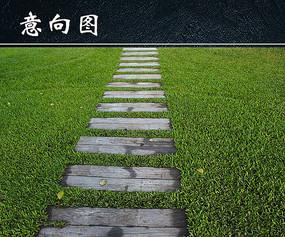 草地小径铺装