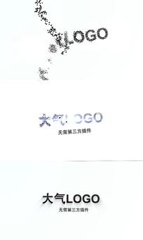 大气粒子logo片头AE模板