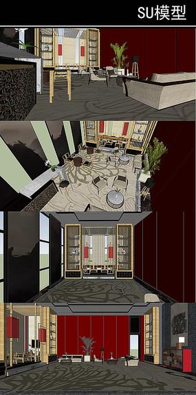 古典中式会所 室内
