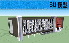 宿舍建筑模型