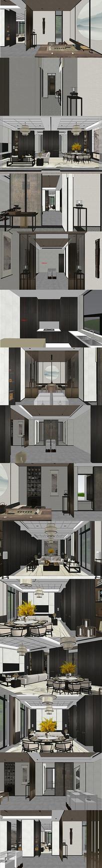 别墅私人会所室内设计SU模型