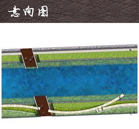 滨水游步道彩色平面图