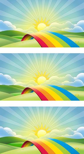 彩虹的约定背景图片