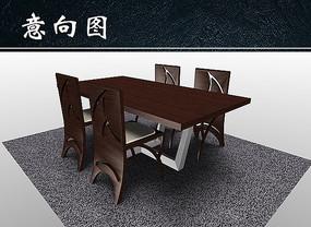 餐桌3D效果图