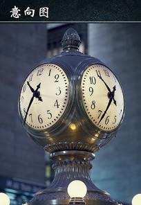 复古的钟图