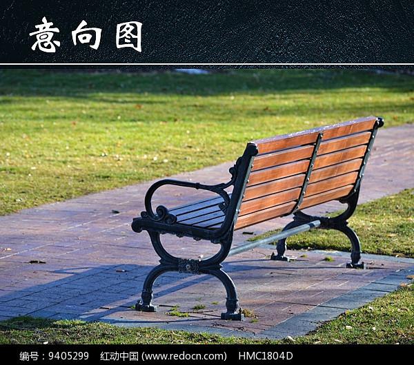 公园长椅风景图片