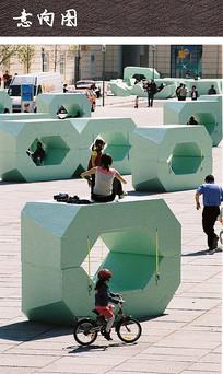 广场多功能公共座椅