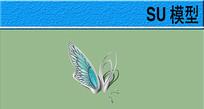 蝴蝶雕塑 skp
