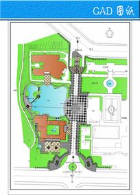 某专科学校景观规划图