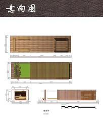 木构筑售货亭廊架