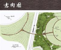 手绘风山地植物公园