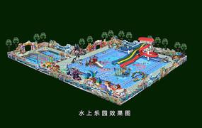 水上乐园景观设计效果图