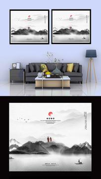 禅文化中式客厅书房装饰画