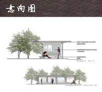现代公交站台设计