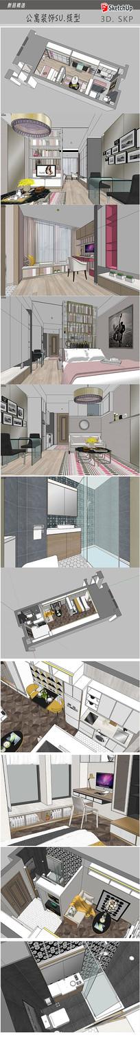 现代家居设计SU模型