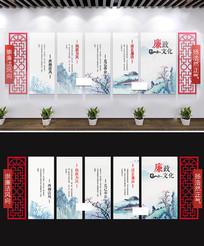 中式廉政文化墙党建展板