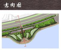 重要滨水节点广场平面