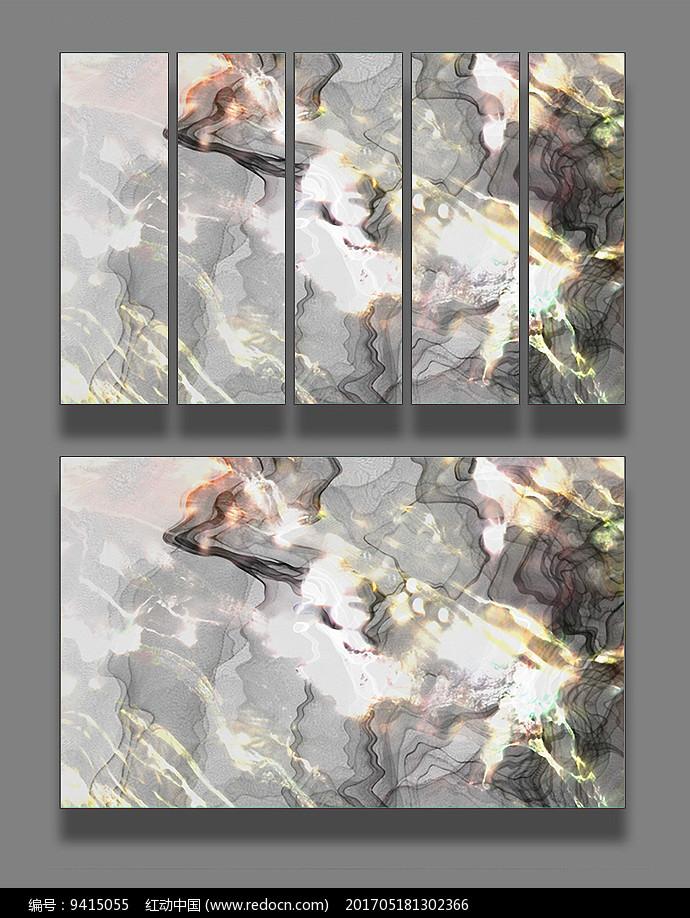 彩色线条装饰画图片