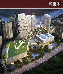 城市商业区景观效果图 JPG
