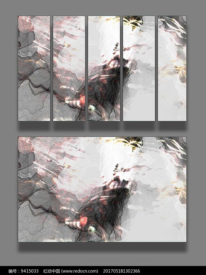 抽象彩色壁装饰画图片