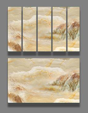 大理石纹抽象山水画