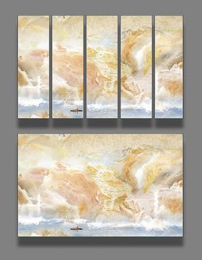 大理石纹电视背景墙