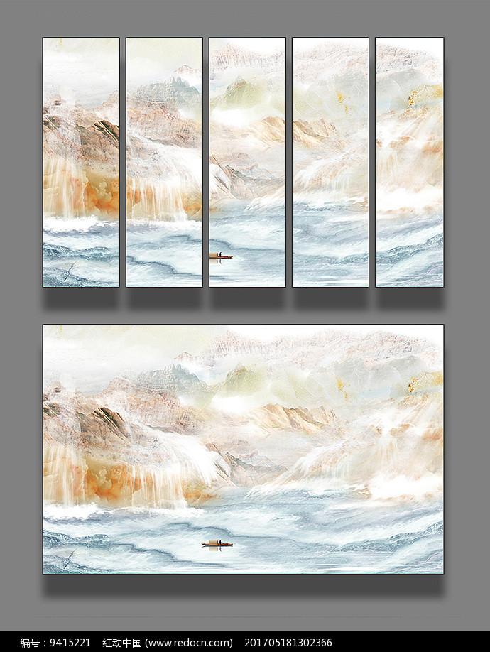 大理石纹理抽象山水画图片