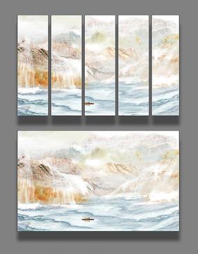 大理石纹理抽象山水画