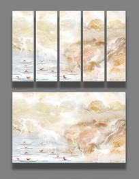 大理石纹山水背景墙