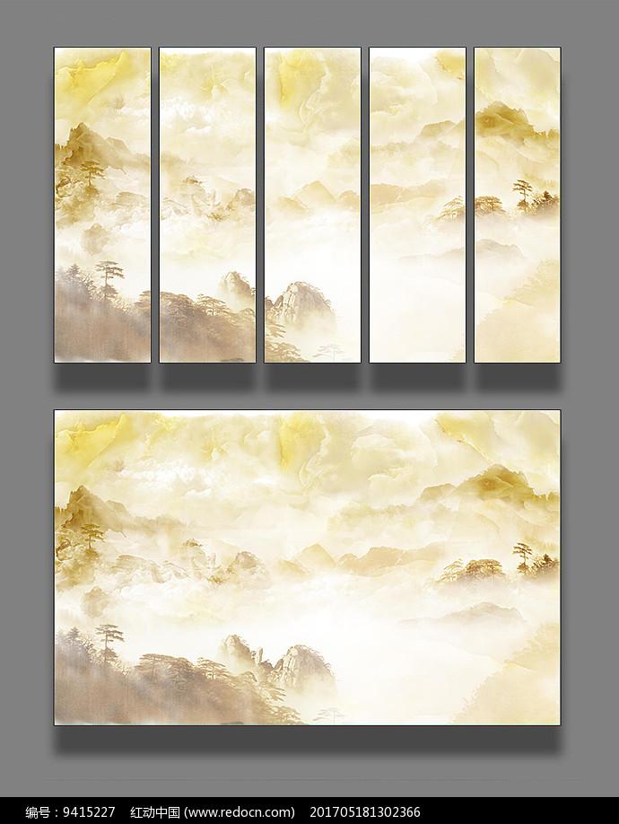 大理石纹山水装饰画图片