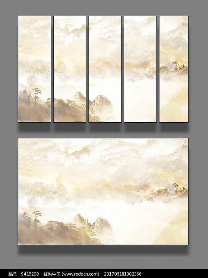 大理石纹艺术山水装饰画图片