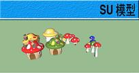 儿童乐园蘑菇小品