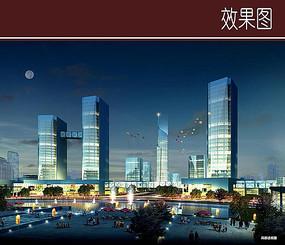 商城广场景观效果图