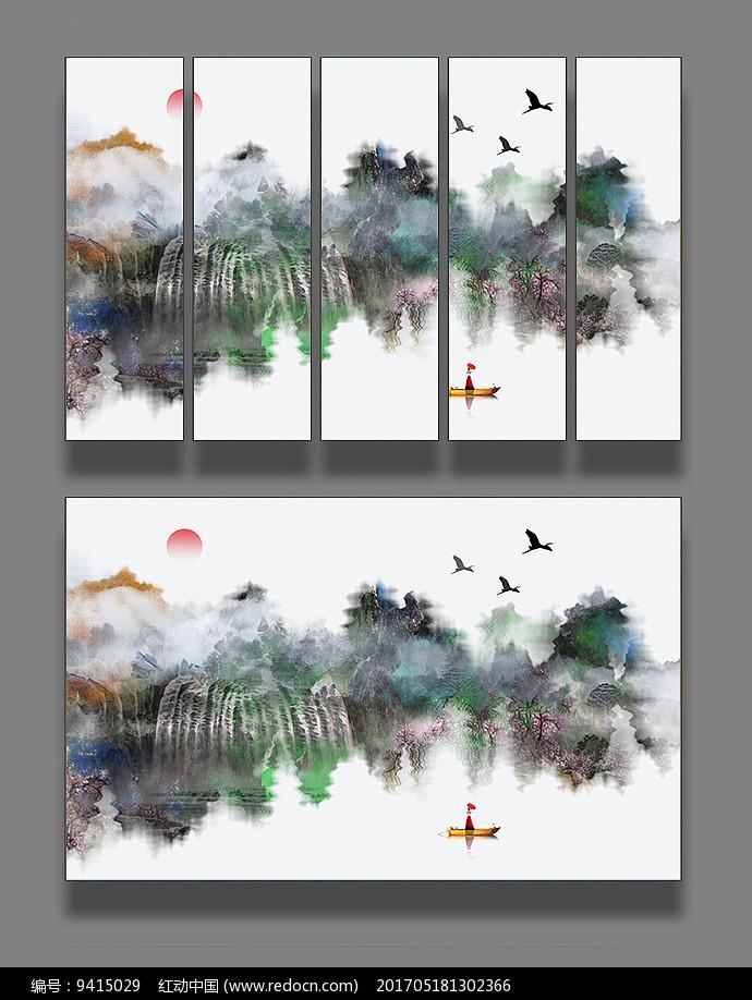 写意山水水墨画图片