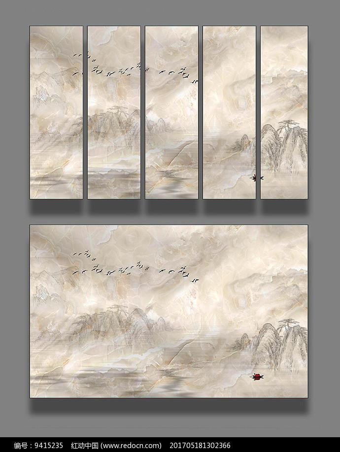 艺术大理石山水装饰画图片