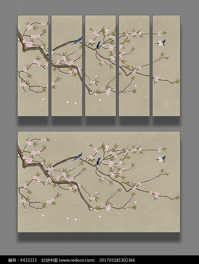 艺术花鸟国画装饰画图片